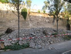 Il crollo delle Mura Aureliane